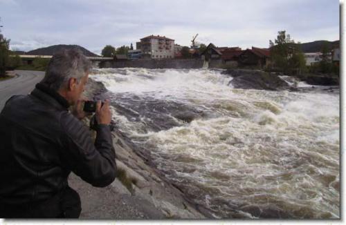 Vattenfall i Kongsberg imponerar på Hasse